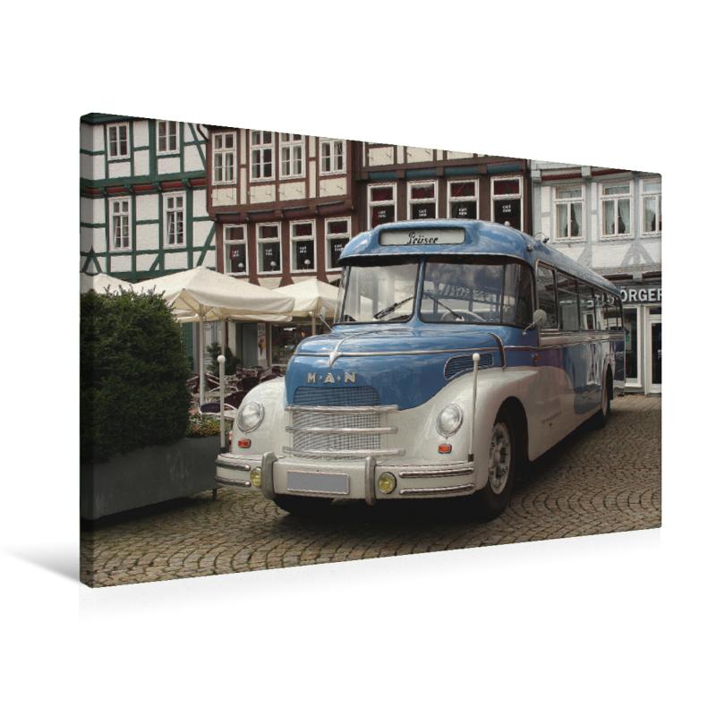 MAN Bus (Premium Textil-Leinwand, Bild auf Keilrahmen) - CALVENDO